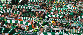 Supporting Celtic.......