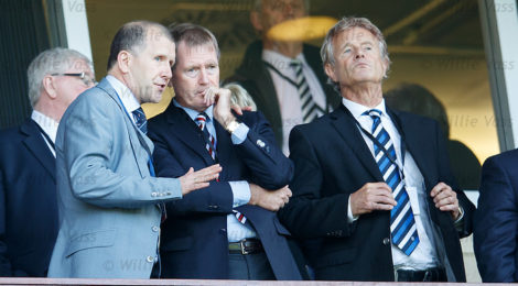 SFA chief exec Stewart Reagan with Dave King and Alastair Johnstone
